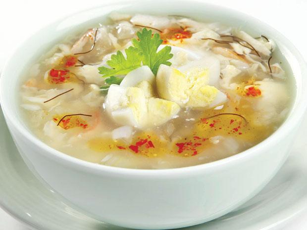 Soup : Hải sản / Sò Điệp hải sản / Hải sản Óc Heo / Tôm Quý Hải vị / Tứ Vị