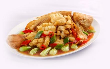 Cá Điêu Hồng : xốt Cam / xốt chua ngọt / Hấp Nấm Đông Cô