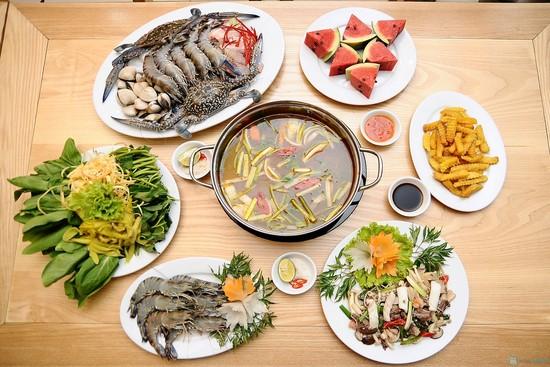 Lẩu Tôm sú Thái Lan + Bún tươi