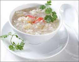 Soup : Bóng Cá Nấm Tuyết