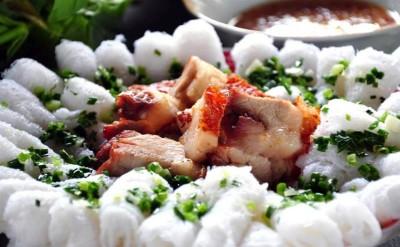 Cá Lóc nhồi thịt quay - Bánh hỏi