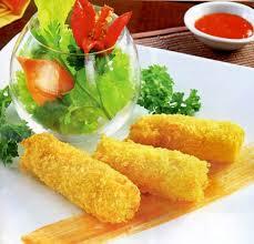 Tôm sú lăn bột - Chả giò Tôm Cua - Gỏi miếng Thái Lan